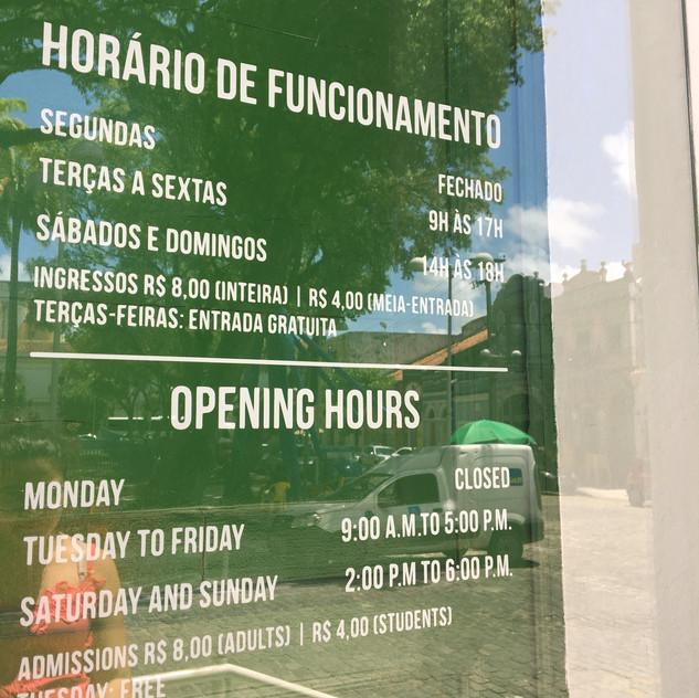 Horário de Funcionamento do Paço do Frevo, Recife Antigo