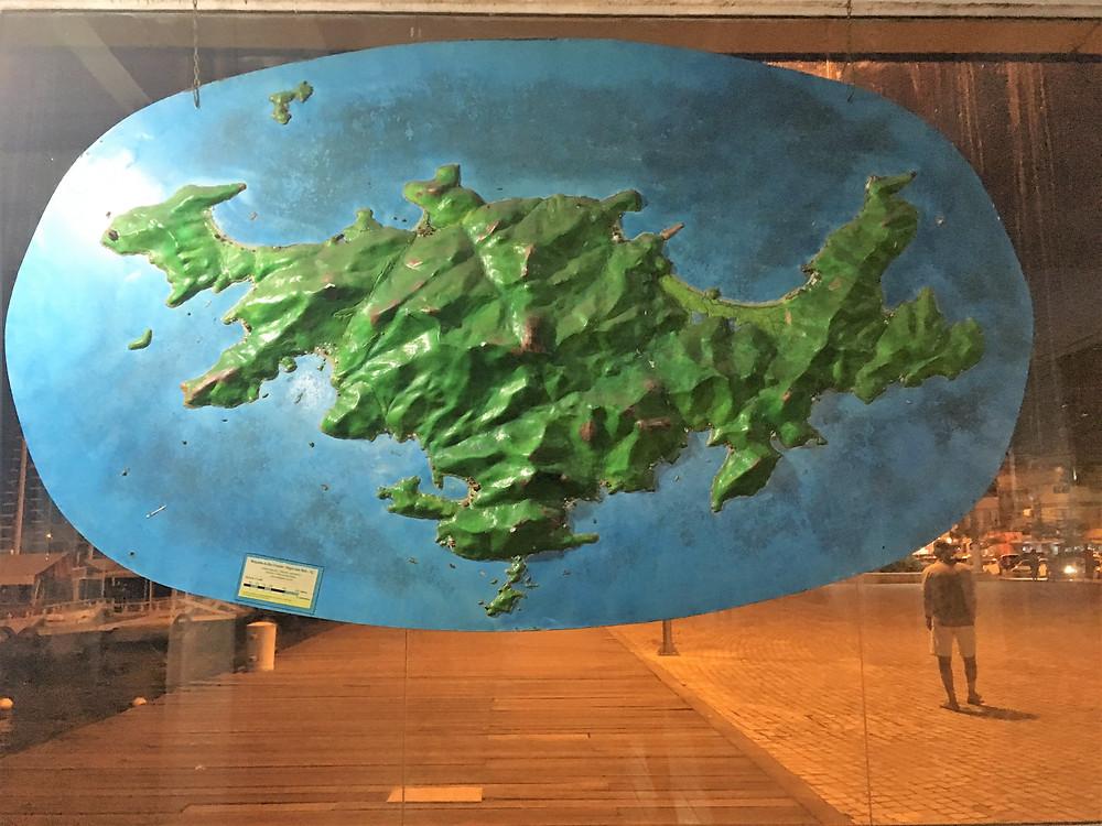 Viaje com pouco - mapa de Ilha Grande