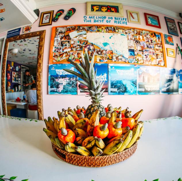 Cozinha do Piratas da Praia Hostel em Recife