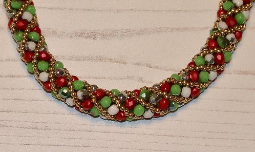 "Spiral Sparkle Necklace 16"""