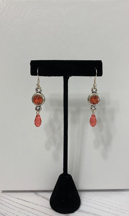 Crystal Charm Drop Earrings