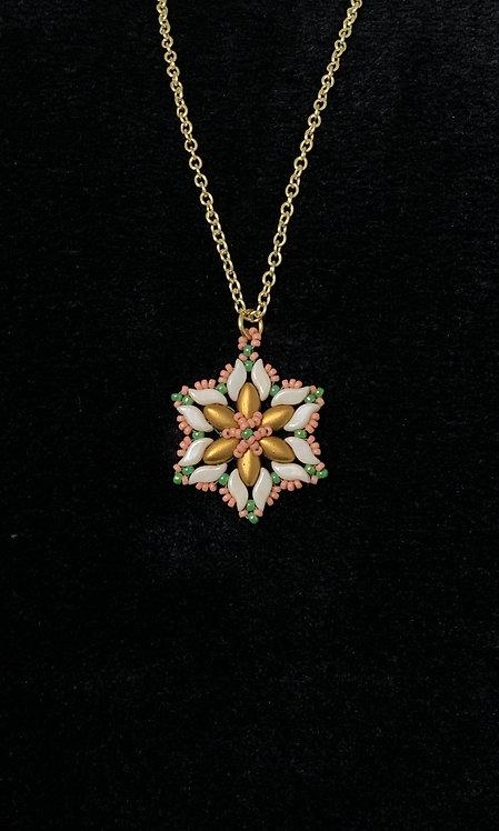 Snowflake Flower Pendant