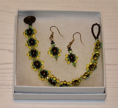 Dew Drop Bracelet and Earring Set