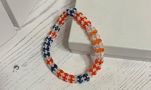 Orange & Blue Elegance Bangle