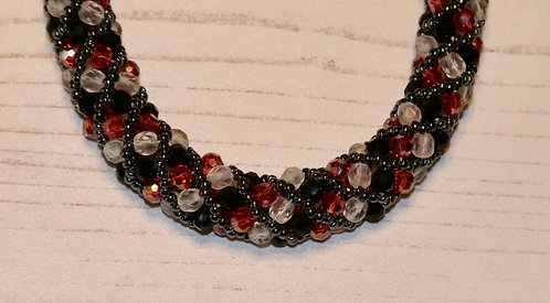 "Spiral Sparkle Necklace 18"""