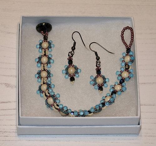Dew Drop Bracelet and Earring Set