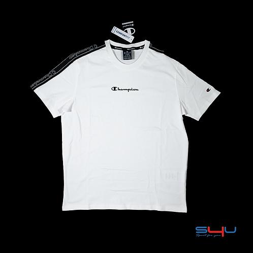 T-Shirt bianca arm logo Champion