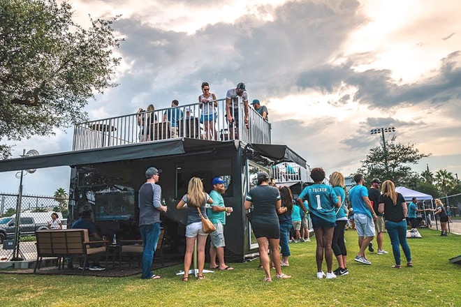 Party Shack Tailgate Village at TIAA Bank Field