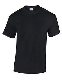Rohware, T-Shirt, schwarz, Gildan heavy Cotton, Baumwolle, G5000