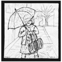 Maya umbrella after ballet class (No Words) Print