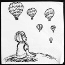 Hot Air balloon watching (no words) Print