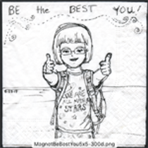 Be the best you! Magnet