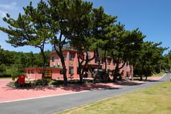 みしまジャンベスクール全景、現在手前の松の木は無くなってしまいました