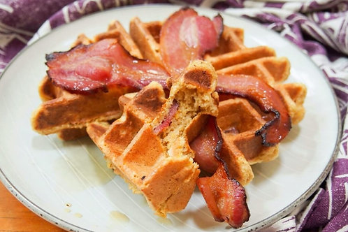 Liegeoise Waffles with Bacon