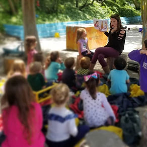 A special story time under the trees wit