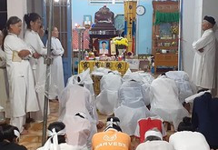 [Cao Đài] Hương đạo Định Quán cầu nguyện cho vị cố đạo hữu Đoàn Văn Nổ