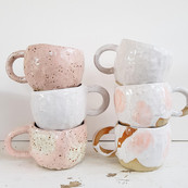 Claire and clay - ceramic cup stack -.jp