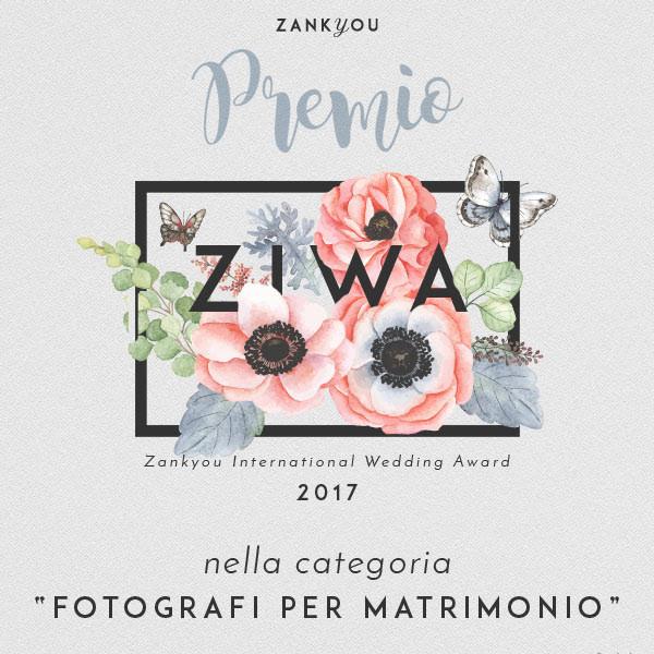 """Il premio Ziwa 2017 per la categoria """"Fotografi per Matrimonio"""""""