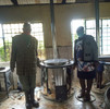 Jikos (cooking systems) installation at Kanjeru Primary School, Kenya