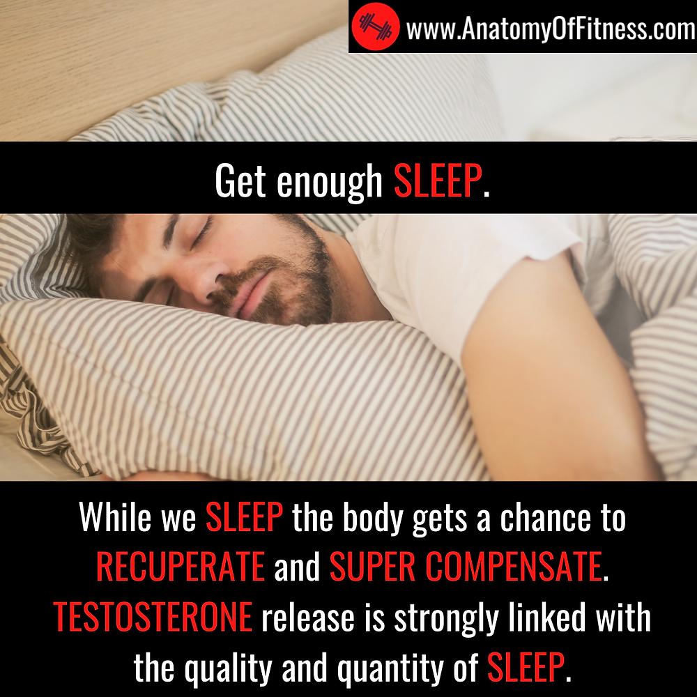 Good SLEEP increases TESTOSTERONE production.