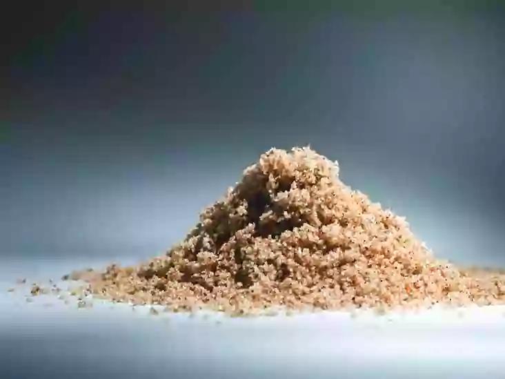 Sand used as a food additive.
