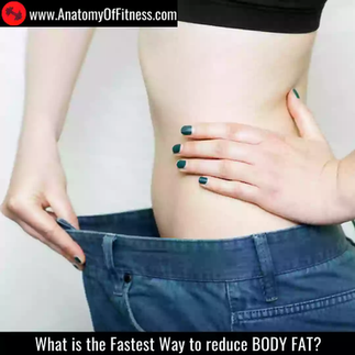 What is the Fastest Way to reduce BODY FAT?