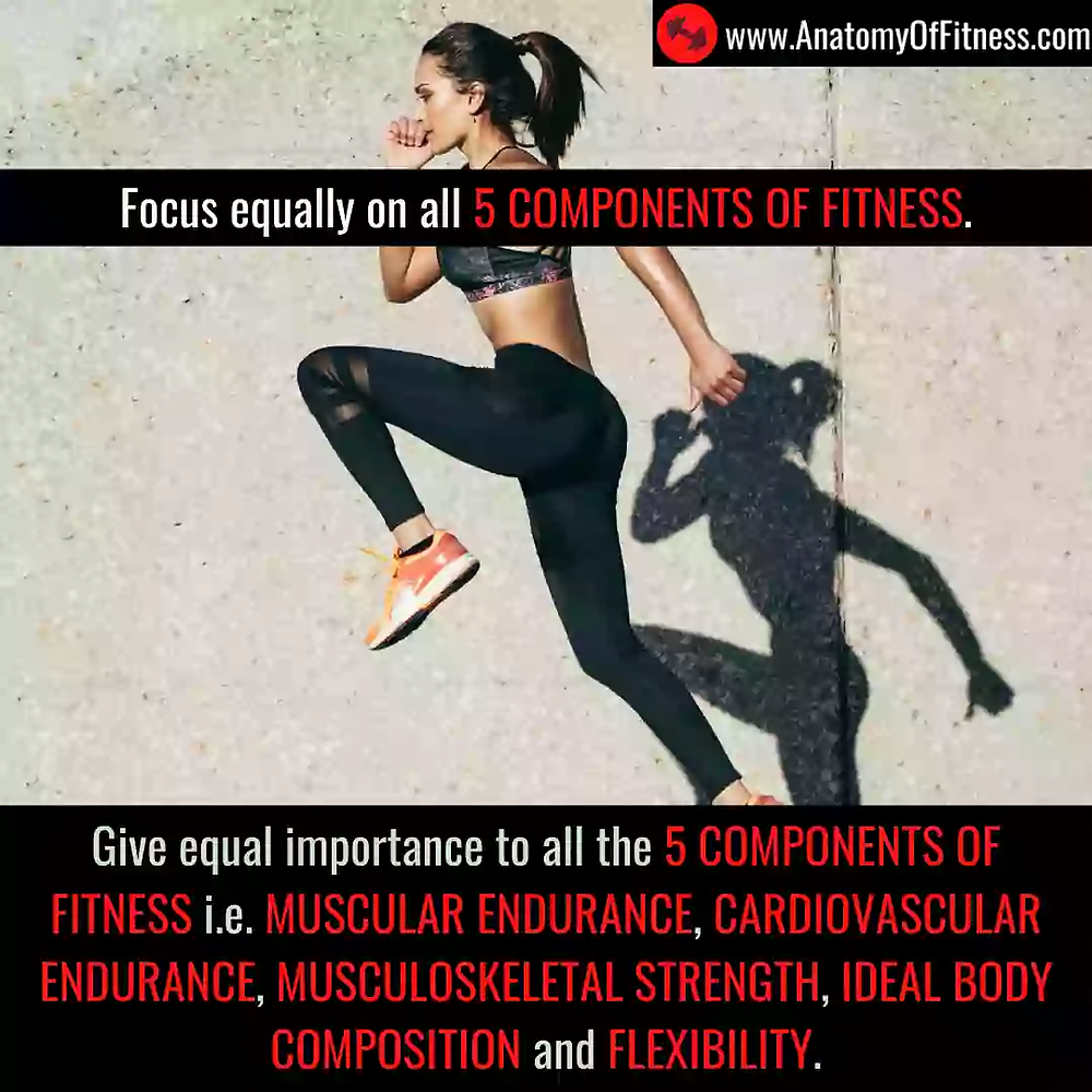 Equal importance to all 5 COMPONENTS OF FITNESS for guaranteed FAT BURN.