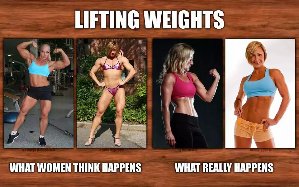 Perception of women towards lifting weights.