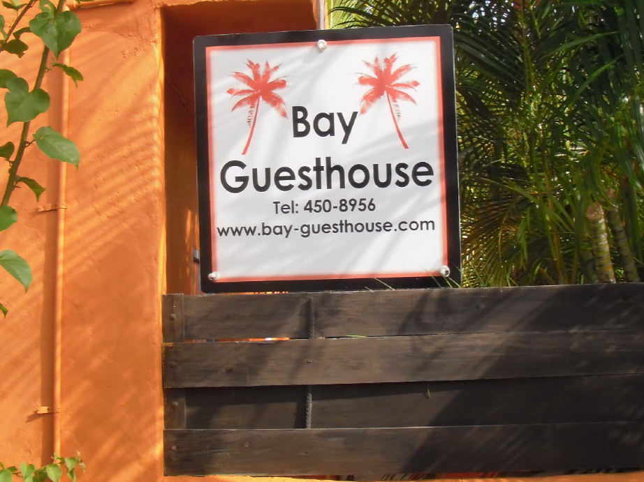 Bay Guesthouse, St Lucia sign