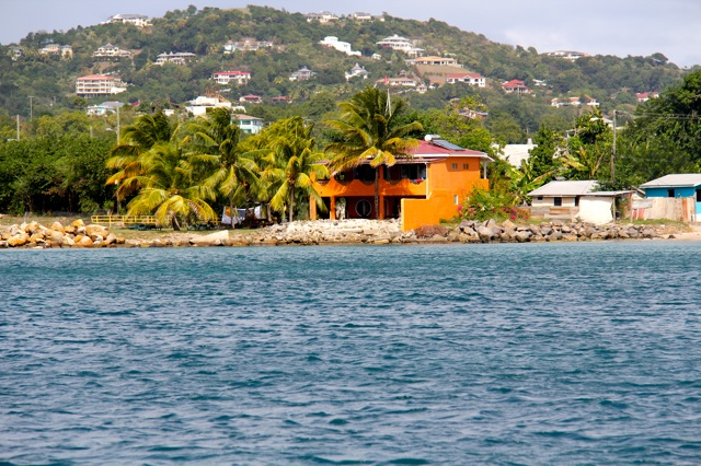 Bay Guesthouse from the sea