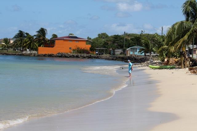 Gros Islet beach