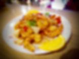 Crevettes sautées aux piments séchés - Restaurant du Bonheur Courbevoie