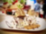 Fondant au chocolat et sa boule vanille - Restaurant du Bonheur Courbevoie