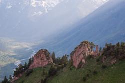 Долина Аксаута с высоты