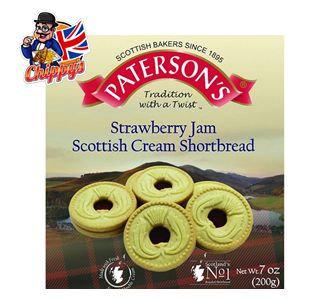 Strawberry Jam Shortbread Rounds (200g)