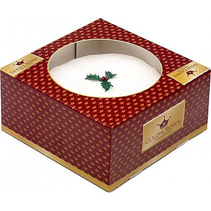 Iced Boxed Christmas Cake (661g)