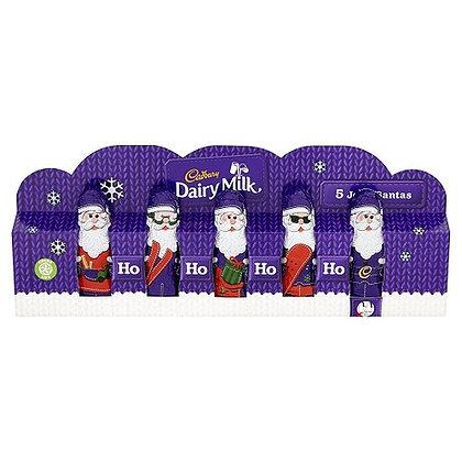 Mini Hollow Chocolate Santas (75g)
