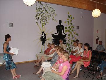 Photo de la conférence sur l'alimentation par Josiane Keller - 29 juin 2015