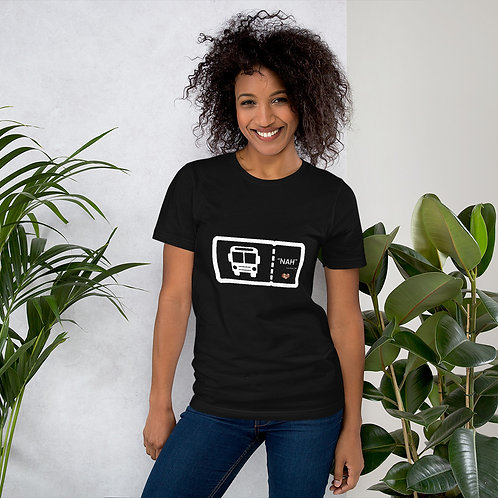 Rosa Parks 'Nah' Ticket Black Short-Sleeve Unisex T-Shirt