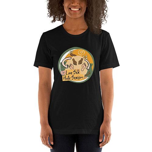 Love Sex, Hate Sexism - Short-Sleeve Unisex T-Shirt