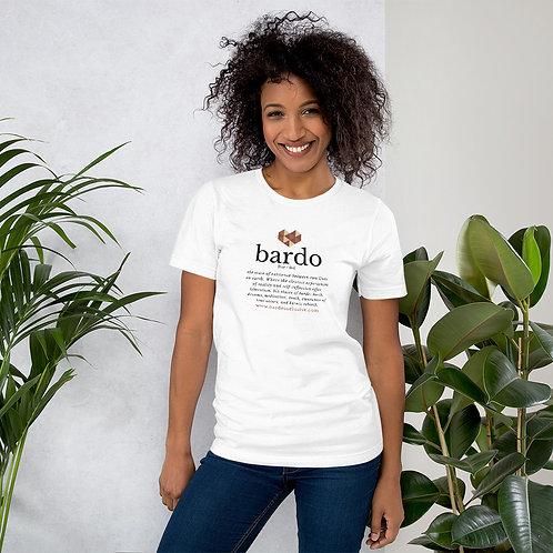 BARDO Definition White Short-Sleeve Unisex T-Shirt