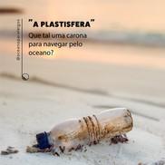 Plástico como meio de transporte no oceano
