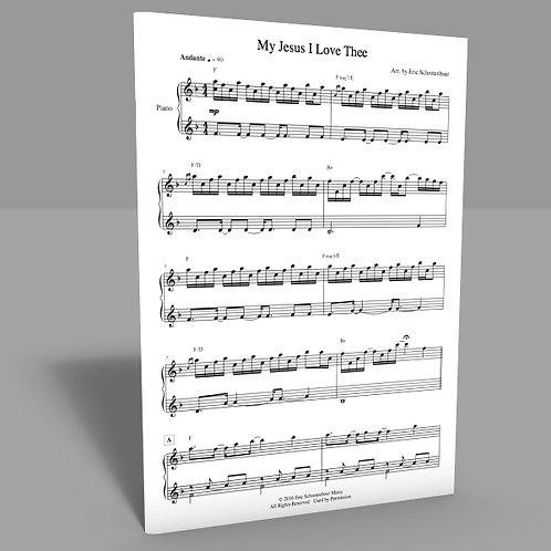"""MyJesus I Love Thee"" Sheet Music"