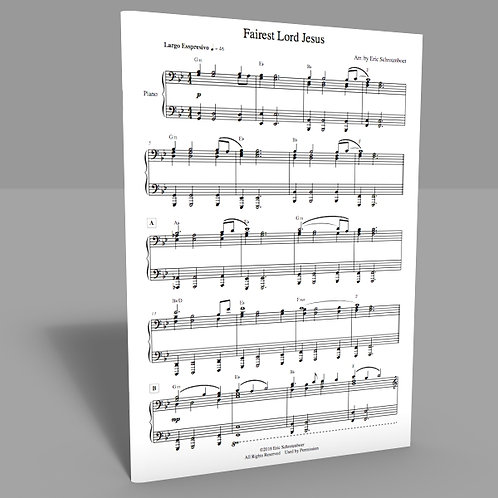 """Fairest Lord Jesus"" Sheet Music"