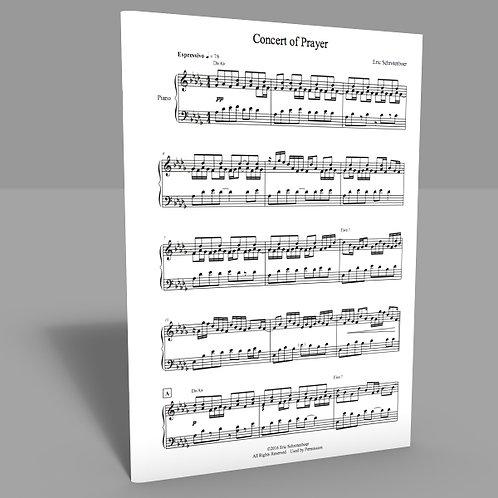 """""""Concert of Prayer"""" Sheet Music"""