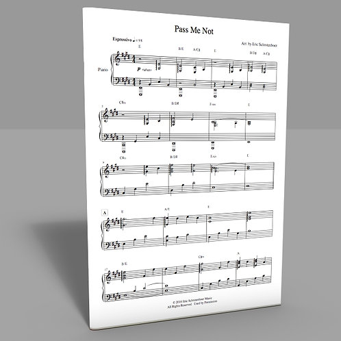 """Pass Me Not"" Sheet Music"