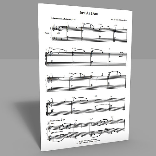 """Just As I Am"" Sheet Music"