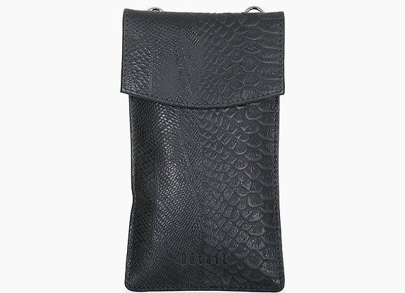 DétaiL - Mobile phone bag dennegroen