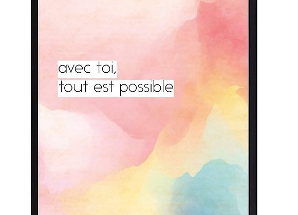 H&H poster in kader 'avec toi tout est possible'