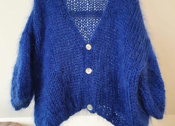 Brimanella cardigan kobaltblauw